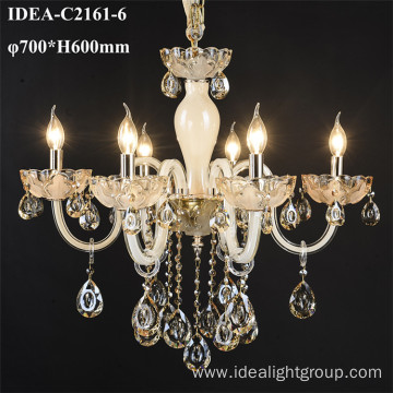 modern glass chandelier candle pendant lights