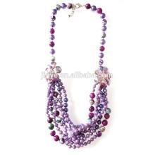 Handmade Нескольких Слоев Ожерелье Из Бисера