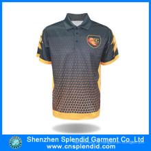 Mode-Hersteller-kundenspezifisches Design-Polyester-sublimiertes Polo-Hemd