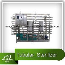 Stérilisateur tubulaire pour lait, jus et boissons