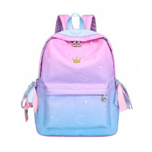 Active Gradient Backpack With  Iridescent Ribbon Backpack For Student