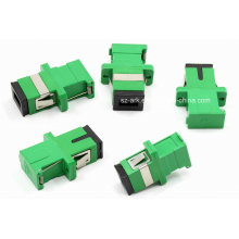 Sc / APC Green Shutter Fiber Optischer Adapter
