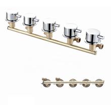 Modern  Multifunctional OEM brass 5 ways mixer faucet durable bath shower faucets
