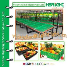 Стойки стойки для овощей и фруктов в супермаркетах