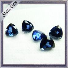 Синтетический Корунд #34 синий лабораторный Сапфир для установки ювелирных изделий