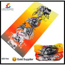 High-Tech-Polyester elastischer multifunktionaler nahtloser Schlauchschal Bandan benutzerdefinierter Nackenwärmer