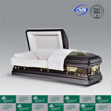LUXES 18ga cercueil métallique cercueil de chaud-vente