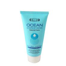 tubo de envasado de plástico de limpiador facial de cuidado natural