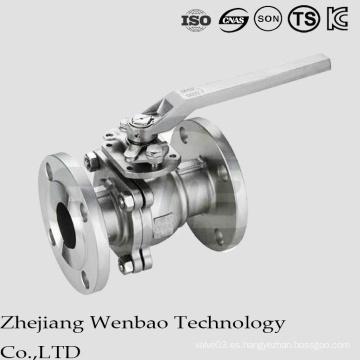 ANSI 2PC Válvula de bola de brida manual de cuerpo dividido clase 150/300