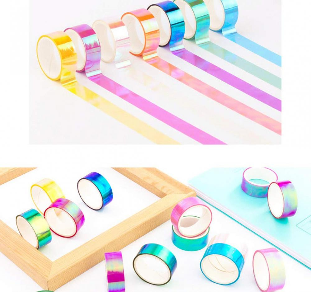 Holographic Rainbow Colored Masking Tape 6