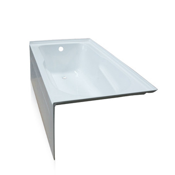 60 Inch Three Wall Tile Alcove Bathtub