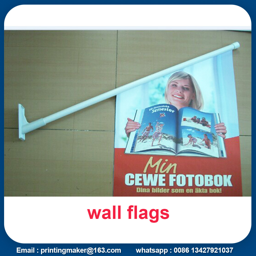 wall printed flags