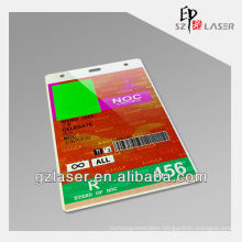 Hologram plastic cheap pass card holder