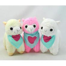 Lindo juguete de peluche de peluche de colores juguetes de peluche de alpaca