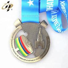 Venta caliente personalizada su propia medalla de diseño medalla de metal de levantamiento de pesas