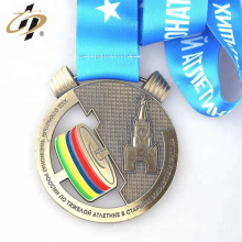 Hot selling custom your own design weightlifting metal award medal