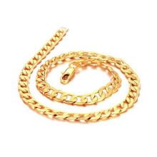 18 Karat solide Chunky Gold Halskette, solide Kupfer Kette Schmuck