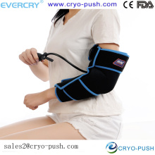 home care arm and elbow joint injury/ pain cold therapy with air compression to relieve and ease