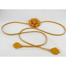 1.0cm fashion leather flower belt for woman's cloth