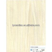 folheado de madeira maple branco
