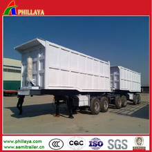Hydraulic Double Dumping Truck Cargo Trailer with 40cbmx2dumpers