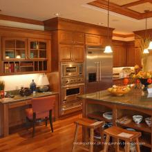 Projetos do armário de cozinha da madeira maciça da cereja
