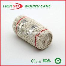 HENSO Hot Sale Elastic Red Line Cotton Crepe Bandage