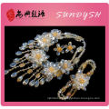 Wholesale Golden Color Crystal Necklace Braclet Earring Jewelry Set