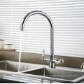 Две Керамические Ручки Кухня Раковина Смеситель Воды