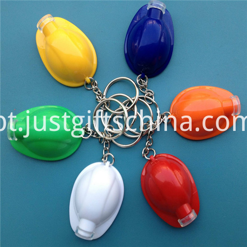 Promotional Led Plastic Key Chain Helmet2