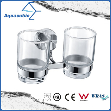 Contemporary Wall Mount Chromed Double Tumbler Holder (AA9615B)
