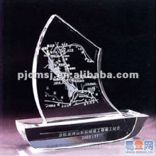 2015 Beautiful Crystal Logo 3D Laser In Ship Model For Nautical Souvenir