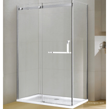 Strong Aluminum Rectangle Tempered Glass Shower Enclosure