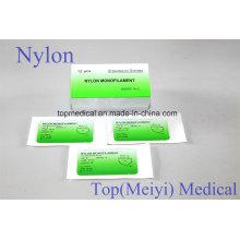 Хирургический шов - нейлоновая мононитка без абсорбируемого шва