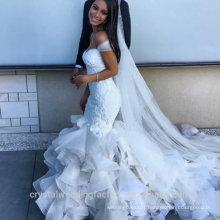 Sexy sweetheart lace custom made mermaid Ruffled wedding dress WW1414