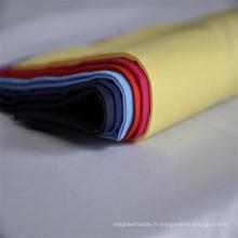 T / C 90/10 110X76 Tissu en popeline à empiècement blanc et teint uni