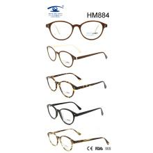 Handmade Custom Vintge Round Rim Acetate Eyeglasses (HM884)