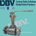 Lever Stellite Metal Seated Cryogenic CF8m Forged Ball Valve