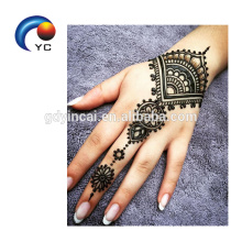 Yincai Henna Stencils Mehndi Style Waterproof Tattoo Sticker in Hot Sale Body Painting