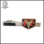 Engraved tie necktie clip holder