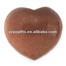 40MM goldstone Corações de pedra