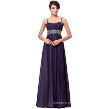 Kate Kasin Full-Length Spaghetti Straps Chiffon Long Dark Purple Evening Prom Party Dress 8 Size US 2~16 KK000184-2