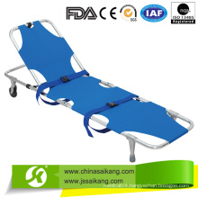 Aluminum Alloy Automatic Loading Medical Stretcher with Wheels