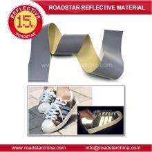 grey reflective PVC foam leather
