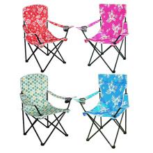 Colorido impresión de sillas plegables de metal barato con brazos (SP-111)