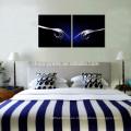 Arte creativo de la pared de la lona de los cubiertos de la cocina / ilustraciones envueltas galería / impresión abstracta de la imagen
