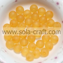 Orange Acrylic Round Beads Bracelet Spacer Charm 8mm Matte Beads