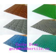 Rib Rubber Sheet, Anti-Abrasive Rubber Sheet, Willow Pattern Rubber Sheet Rubber Sheet for Workshop