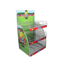 Free Design Countertop Metal 2-Layer Snack Food Potato Chip Rack Display, Wire Chip Bag Display Rack