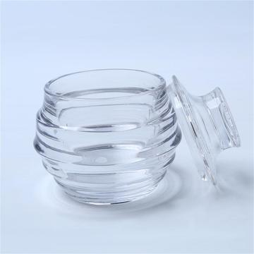 Honeycomb Glass Candy Jar